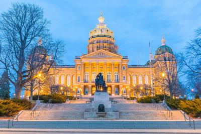 FILE - Iowa state Capitol building in Des Moines
