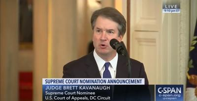 FILE - SCOTUS Justice-nominee Brett Kavanaugh