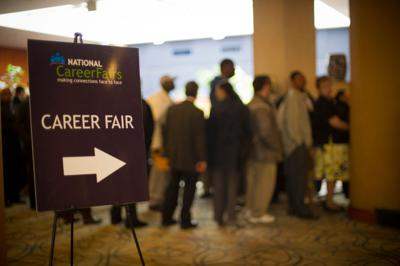 FILE - Job fair