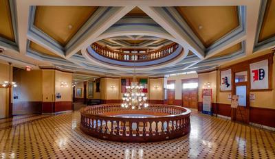 FILE - Rotunda of the Arizona State Capitol building