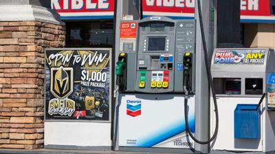 FILE - Las Vegas Gas Pump