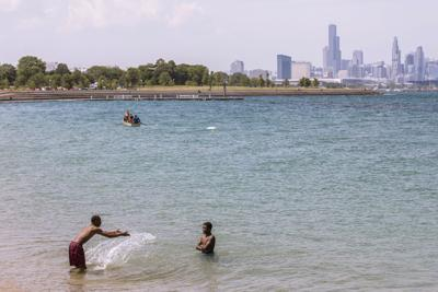 FILE - Lake Michigan, Chicago