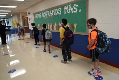 FILE - School Reopen Illinois, Oak Terrace Elementary School in Highwood