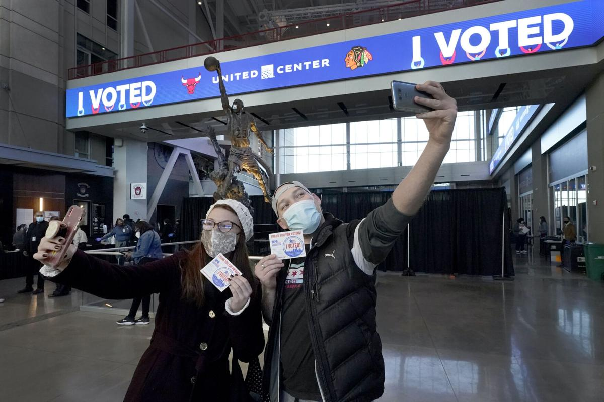 FILE - APTOPIX Election 2020 Illinois Voting, Chicago