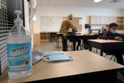FILE —Seattle school sanitizer