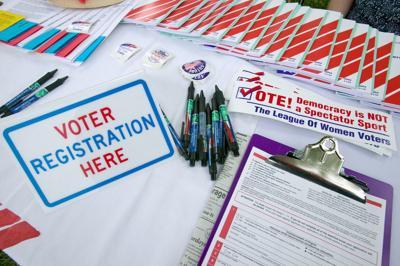 FILE - Voter registration