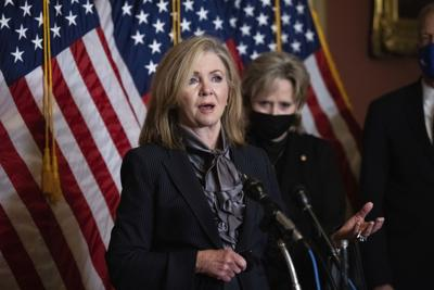 FILE - Tennessee U.S. Sen. Marsha Blackburn