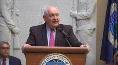 FILE - USDA Secretary Sonny Perdue