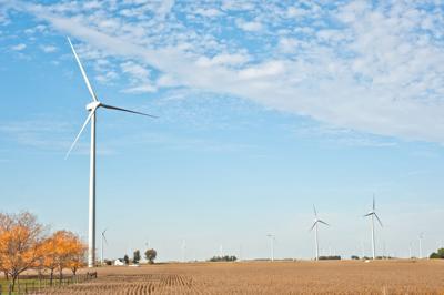 FILE - Ohio wind farm