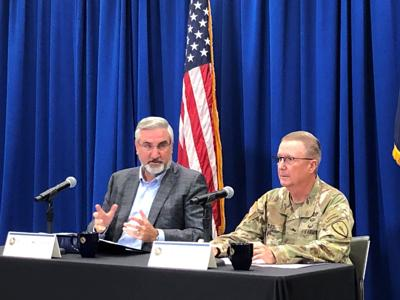 File-Holcomb refugee press conference