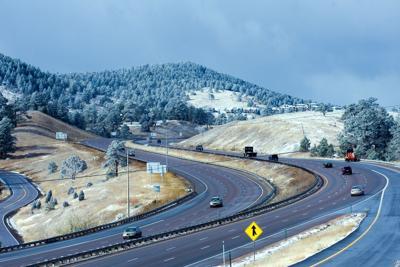 FILE - Colorado roads interstate
