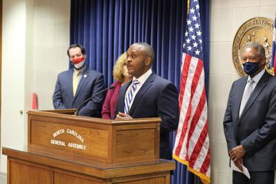 House Minority Leader Rep. Robert Reives and Senate Minority Leader Dan Blue