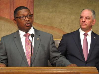 FILE - Louisiana Transportation and Development Secretary Shawn Wilson