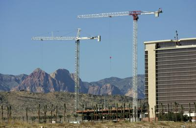 FILE - Casino construction Las Vegas