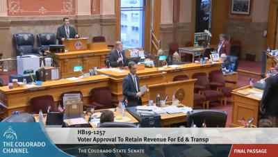 FILE -- Colorado Senate approves TABOR bills
