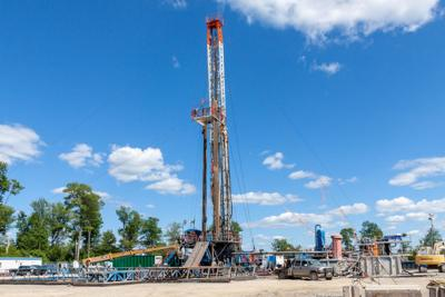FILE - Marcellus Shale gas drilling