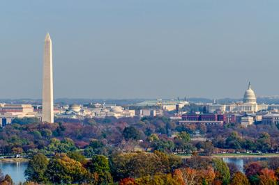 The,Washington,Monument,And,United,States,Capitol,Building,Stand,Tall