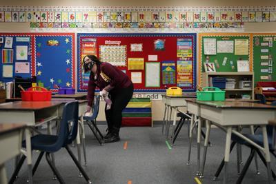 FILE - Vegas Schools Reopening