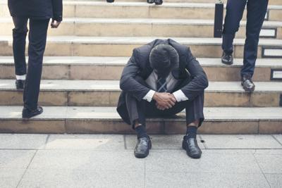 Jobless man, unemployment