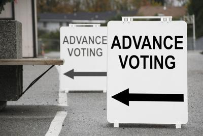 FILE - Early voting, advance voting