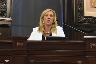 FILE - Illinois State Sen. Sue Rezin