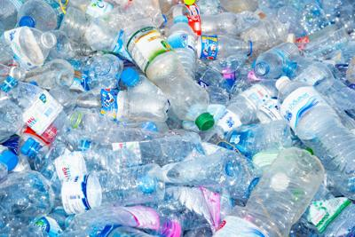 FILE - Plastic bottles recycling