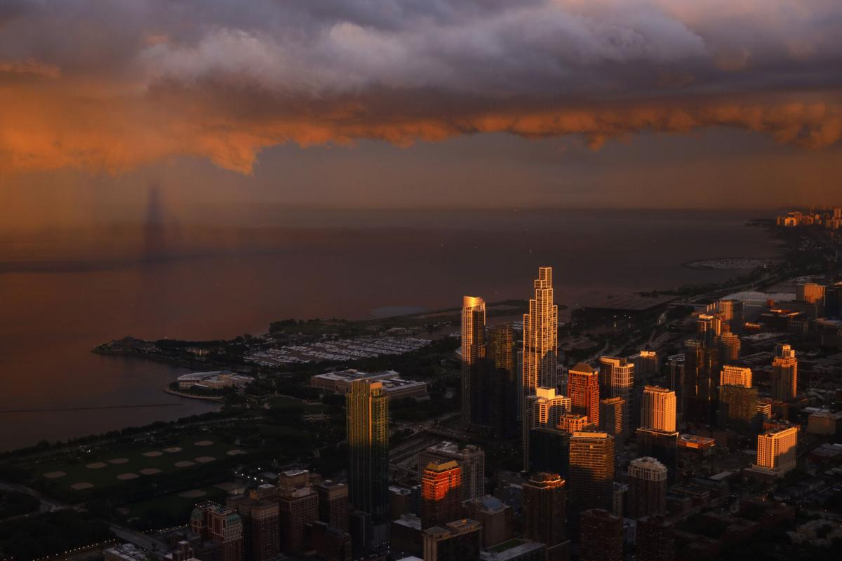 FILE - Chicago skyline, 2021