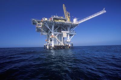 FILE - Oil platform, oil rig, offshore drilling