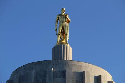 FILE - Top of the Oregon State Capitol