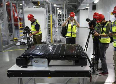 FILE - Tesla Gigafactory