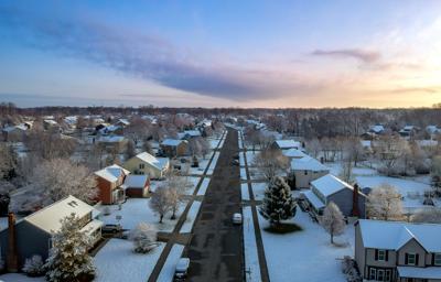 FILE - OH neighborhood, houses, winter