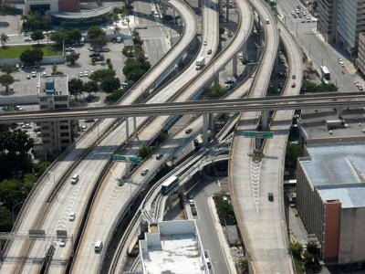 FILE - Miami Florida interstate