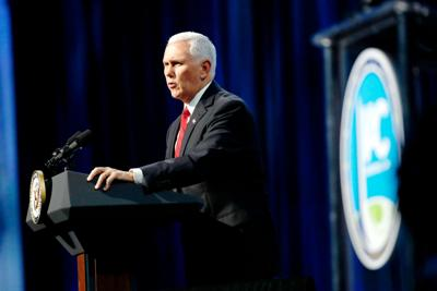 FILE - Mike Pence 10-21-2019