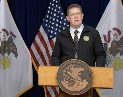 FILE - Director Brendan Kelly, Illinois State Police, 10-28-20