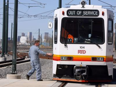 FILE - RTD Light Rail Colorado