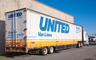 FILE - United Van Lines moving truck