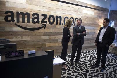 FILE - SecDef Ash Carter tours Amazon HQ