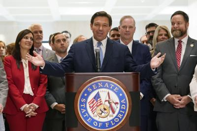 FILE - Ron DeSantis, Florida Legislature