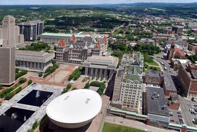 FILE - NY Albany, Empire State Plaza, capitol, statehouse
