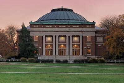 FILE - Auditorium at the University of Illinois at Urbana-Champaign