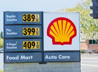 FILE - Gas prices gasoline