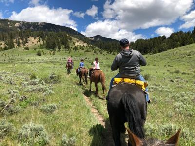Montana horseback riding peaceful