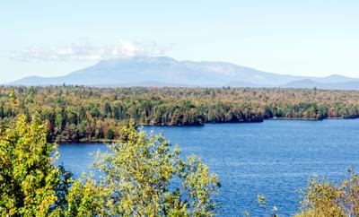 ME - Salmon Stream Lake, Cole Overlook, Mount Katahdin, Baxter State Park.