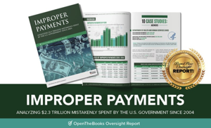 Reports: 20 federal agencies have wasted $2.3 trillion in taxpayer money in improper payments since 2004