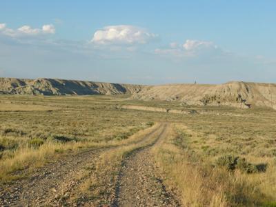 FILE - Dirt Road Wyoming