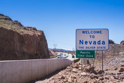 FILE - Welcome to Nevada