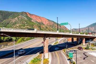 FILE - CO Glenwood Springs, highway overpass 7-10-2019
