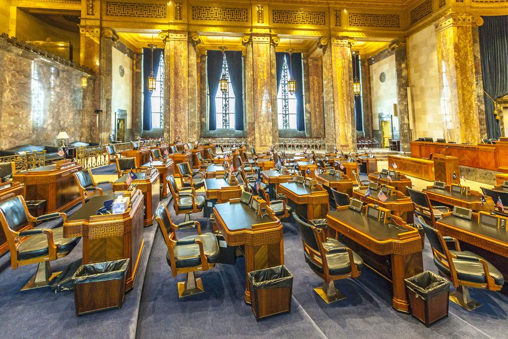 FILE - Louisiana State Capitol (House of Representatives)