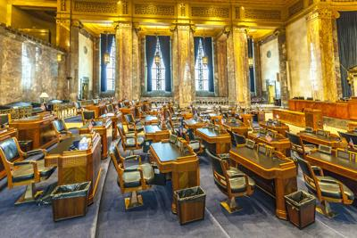 FILE - Louisiana State Capitol (House of Representatives)