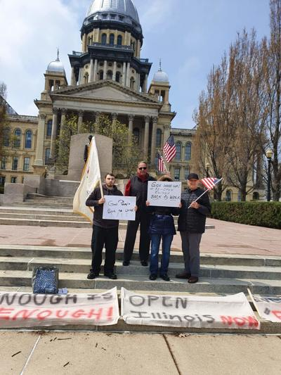 FILE - Protesters gather in Springfield